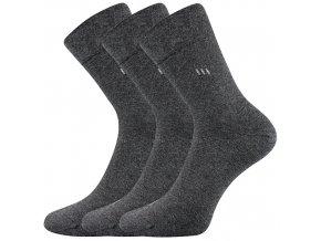 Zdravotní ponožky 3 kusy v balení Lonka Dipool antracit melé