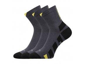 Ponožky VoXX 3 kusy v balení Gastl tmavě šedá