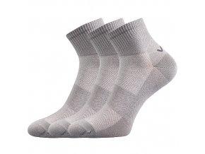 Ponožky VoXX 3 kusy v balení Metym světle šedá