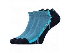 Ponožky VoXX 3 kusy v balení pinas modrá