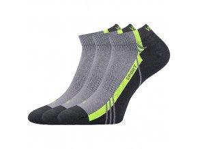 Ponožky VoXX 3 kusy v balení pinas světle šedá