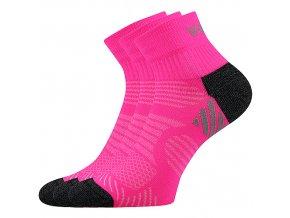 Sportovní Ponožky VoXX 3 kusy v balení Raymond neon růžová