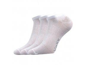 Sportovní Ponožky VoXX 3 kusy v balení Rex bílá
