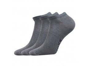 Sportovní Ponožky VoXX 3 kusy v balení Rex světle šedá