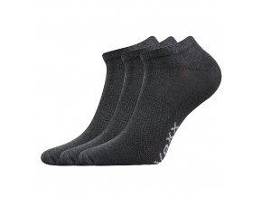 Sportovní Ponožky VoXX 3 kusy v balení Rex tmavě šedá