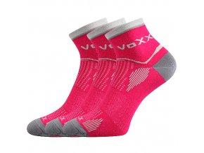 Sportovní Ponožky VoXX 3 kusy v balení Sirius magenta