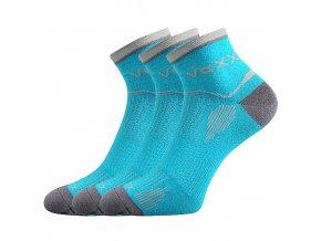 Sportovní Ponožky VoXX 3 kusy v balení Sirius tyrkys
