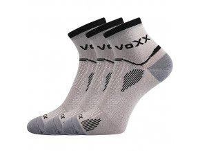 Sportovní Ponožky VoXX 3 kusy v balení Sirius světle šedá