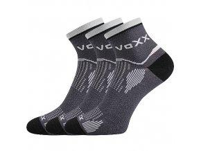 Sportovní Ponožky VoXX 3 kusy v balení Sirius tmavě šedá