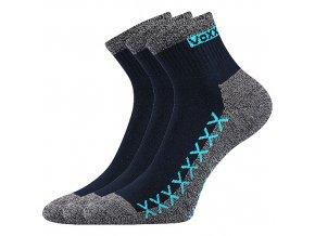 Ponožky VoXX 3 kusy v balení Vector Tmavě modrá
