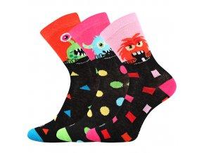 Dětské ponožky 3 kusy v balení Lonka Ufonek dívka