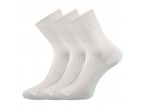 Společenské ponožky 3 kusy v balení Lonka Viktor Bílá