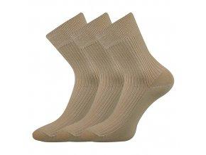 Společenské ponožky 3 kusy v balení Lonka Viktor Béžová