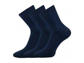 Společenské ponožky 3 kusy v balení Lonka Viktor Tmavě modrá