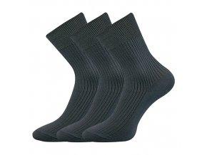 Společenské ponožky 3 kusy v balení Lonka Viktor Tmavě šedá