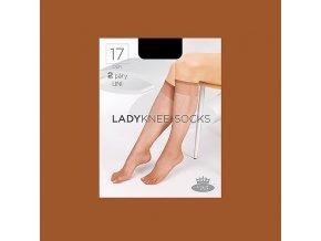 Podkolenky 2 páry v balení Boma LADYknee socks 17 DEN Opal