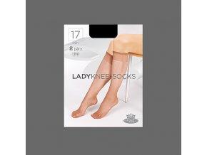 Podkolenky 2 páry v balení Boma LADYknee socks 17 DEN Fumo