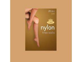 Podkolenky 2 páry v balení Boma LADYknee socks 20 DEN Camel