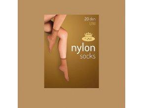 Punčochové ponožky 5 párů v balení Boma Nylon socks 20 DEN beige