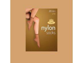 Punčochové ponožky 5 párů v balení Boma Nylon socks 20 DEN camel
