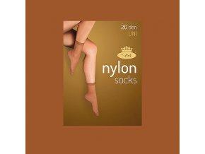 Punčochové ponožky 5 párů v balení Boma Nylon socks 20 DEN opal