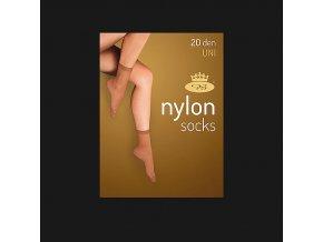 Punčochové ponožky 5 párů v balení Boma Nylon socks 20 DEN nero