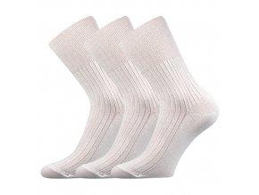 Zdravotní ponožky 3 kusy v balení VoXX Zdrav bílá