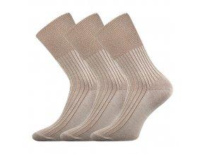 Zdravotní ponožky 3 kusy v balení VoXX Zdrav béžová