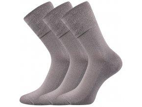 Zdravotní ponožky 3 kusy v balení VoXX Finego Světle Šedá