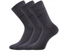 Zdravotní ponožky 3 kusy v balení VoXX Finego Tmavě Šedá