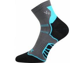 Cyklistické Ponožky VoXX Falco tmavě šedá