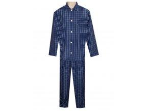 Pánské Pyžamo Popelín FOLTÝN PI15 modrá kostka