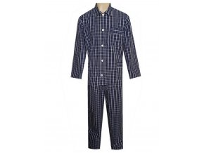 Pánské Pyžamo Popelín FOLTÝN PI16 modrobílá kostka