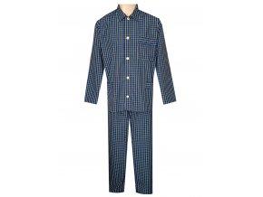 Pánské Pyžamo Popelín FOLTÝN PI23 modrožlutá kostka