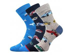 Dětské ponožky 3 kusy v balení Boma 057 21 43 10 mix vzorů B kluk