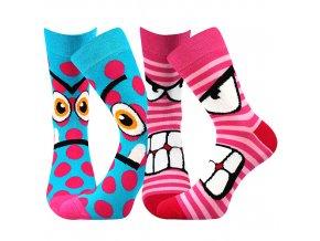 Dětské ponožky 2 páry v balení Boma Ksichtík Holka