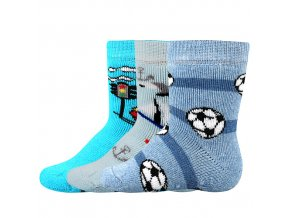 Kojenecké ponožky 3 páry v balení Boma Dona protiskluz kluk