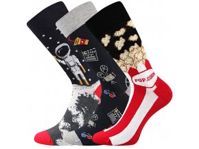 Společenské ponožky 3 kusy v balení Lonka Depate mix M