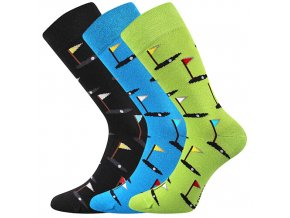 Společenské ponožky 3 kusy v balení Lonka Depate mix N
