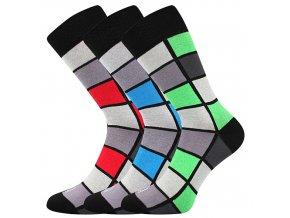 Společenské ponožky 3 kusy v balení Lonka Wearel 024 mix a