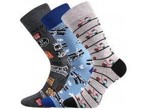 Společenské ponožky 3 kusy v balení Lonka Depate mix O