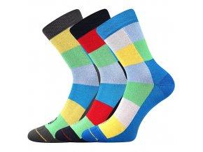 Dětské bambusové ponožky 3 kusy v balení Lonka Bamcubik mix barev A