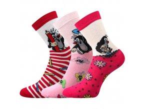 Dětské ponožky 3 kusy v balení Boma Krtek mix dívka