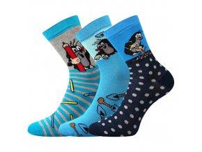 Dětské ponožky 3 kusy v balení Boma Krtek mix chlapec
