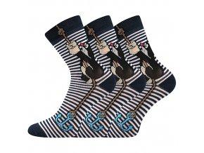 Dětské ponožky 3 kusy v balení Boma Krtek mix kotva modrá