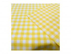 Kanafas 1 cm žlutá kostka Kt33