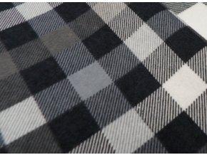 Flanel černo šedá kostička artikl K4