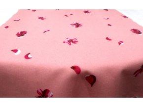 Flanel růžový abstraktní vzor artikl 22453