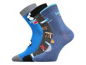 Dětské ponožky 3 kusy v balení Boma 057 21 43 11 mix vzorů B kluk