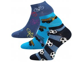 Dětské ponožky 3 kusy v balení Lonka Dedonik mix kluk